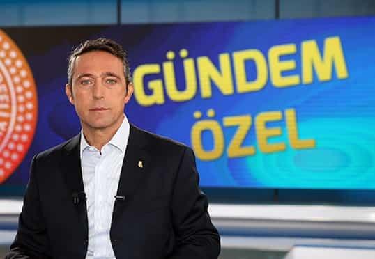 Başkanımız Ali Koç FBTV'de Gündem Özel programında açıklamalarda bulundu
